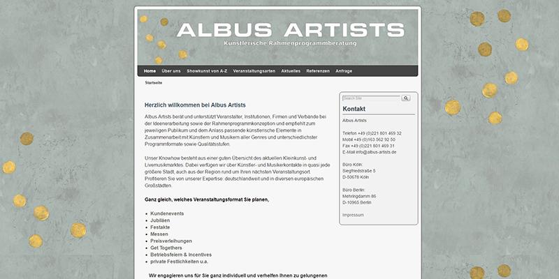 www.albus-artists.de